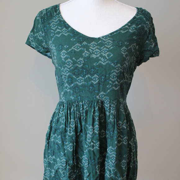 Mossimo Supply Co. Dresses & Skirts - SALE : Green Short sleeved fall colors Mini Dress